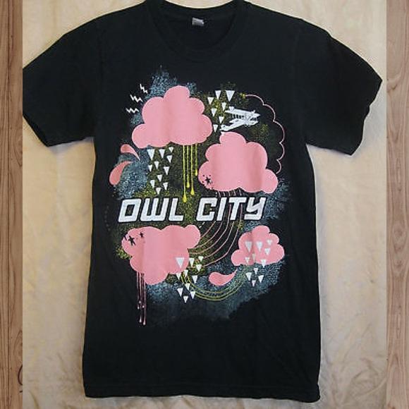 Owl City 2010 authentic tour tee